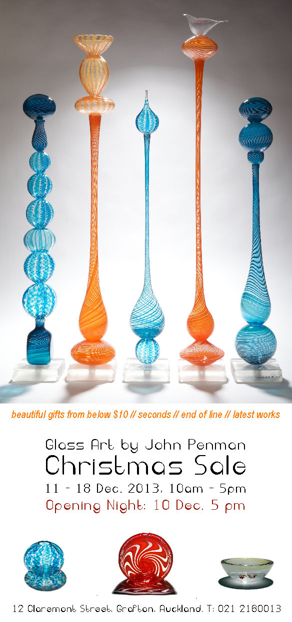 Glass Art by John Penman: Christmas Sale & Opening Party